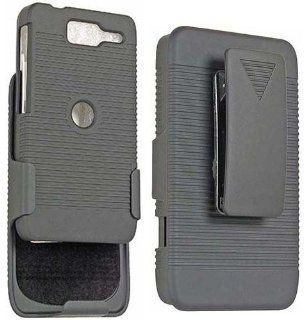 BLACK HARD CASE + BELT CLIP HOLSTER STAND FOR MOTOROLA RAZR D1 XT914 XT916 XT918 Cell Phones & Accessories