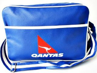 Qantas Airways Bags, Classic Retro Shoulder Bags, Retro Airlines Bags, QF001 Fresh Blue Bags, QF Inflight Bag, Unisex Bags, Messenger Bags  Other Products