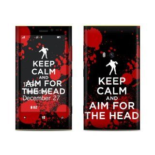 Keep Calm   Zombie Design Protective Decal Skin Sticker (Matte Satin Coating) for Nokia Lumia 920 Cell Phone Cell Phones & Accessories