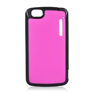 ALCATEL 960C Special HOT PINK HARD COVER+BLACK TPU Cell Phones & Accessories