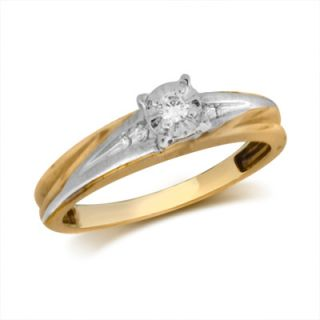 Diamond Accent Engagement Ring in 10K Two Tone Gold   Zales