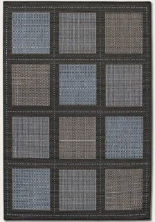 "Shop 5'9"" x 9'2"" Summit Blue Black Indoor/Outdoor Area Rug at the  Home D�cor Store"