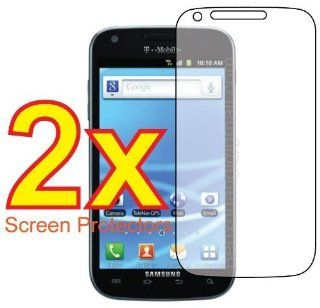 2x Samsung Galaxy S2 T Mobile SGH T989 Premium Clear LCD Screen Protector Cover Guard Shield Protective Film Kit (2 Pieces) Cell Phones & Accessories