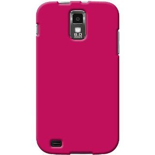 Amzer AMZ92242 Rubberized Snap On Crystal Hard Case for Samsung Galaxy S II SGH T989   1 Pack   Frustration Free Packaging   Hot Pink Cell Phones & Accessories