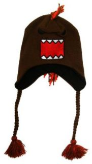 Domo   Unisex adult Domo   Big Face Mohawk Peruvian Knit Hat Red Clothing