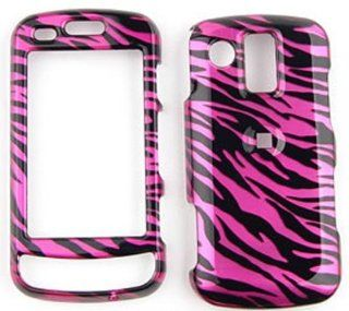 Samsung Rogue u960 Transparent Design, Hot Pink Zebra Print Hard Case/Cover/Faceplate/Snap On/Housing/Protector Cell Phones & Accessories