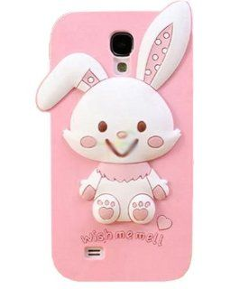 JBG Rabbit Samsung S4 i9500 New 3D Cute Cartoon Character Design Silicone Rubber Soft Case Protective Cover For Samsung Galaxy S4 IV i9500 Cell Phones & Accessories