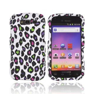 Rainbow Leopard on White Samsung Galaxy S Blaze 4G Rubberized Matte Hard Plastic Case Cover [Anti Slip]; Perfect Fit as Best Coolest Design Cases for Galaxy S Blaze 4G/Samsung S Blaze 4G Compatible with Verizon, AT&T, Sprint,T Mobile and Unlocked Phone