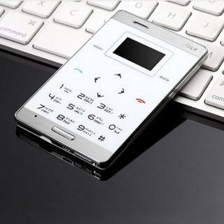 White Black Slim Mini OLED Cell Phone GSM 900/1800  Bluetooth Card Size ddl (White) Cell Phones & Accessories