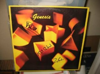 * GENESIS * signed album cover   Collins, Banks, Rutherford / UACC RD # 212 genesis Entertainment Collectibles