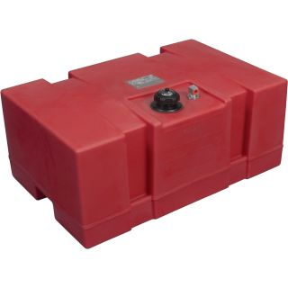 Moeller Marine Rectangular Topside Fuel Tank — 24 Gallon, Model# 031526  Auxiliary Transfer Tanks