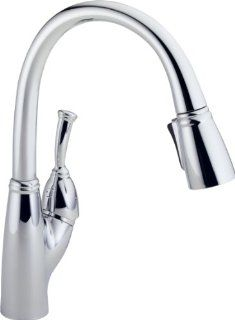 Delta 989 DST Allora Single Handle Pull Down Kitchen Faucet, Chrome   Touch On Kitchen Sink Faucets