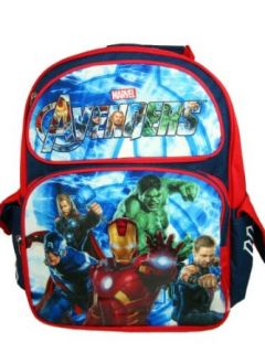 "Marvel AVENGERS Movie Iron Man Captain America Hero Large Backpack Bag Tote 16"" Clothing"