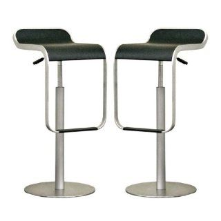 "Shop Cinsault Set of two Low back Adjustable Barstools in Black (Black) (29.5""H x 14.25""W x 15.5""D) at the  Furniture Store. Find the latest styles with the lowest prices from Wholesale Interiors"