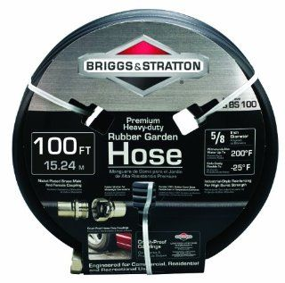 Briggs and Stratton 8BS100 100 Foot Premium Heavy Duty Rubber Garden Hose  Patio, Lawn & Garden