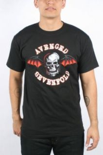 Avenged Sevenfold   Mens Colored Deathbat T Shirt In Black, Size Medium, Color Black Clothing