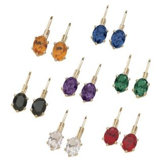 7 Pair Color Crystal Latchback Earring Set   Clip