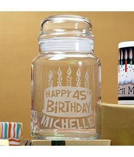 Personalized Birthday Treat Jar   Birthday Gifts   Cookie Jars