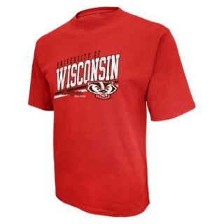 NCAA Mens Short Sleeve Tee Wisconsin