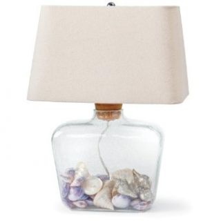 Regina Andrew Cork Top, Fill able Glass Shoulder Lamp   Table Lamps