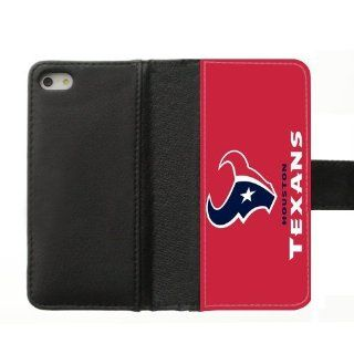 Simple Joy Phone Case, Houston Texans Custom Diary Leather Cover Case for IPhone 5, 5S Cell Phones & Accessories