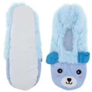 Fuzzy Blue Animal Ballerina House Slippers for Women XL/9.5 10.5 Shoes