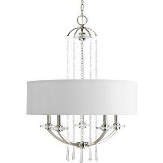 Progress Lighting P4629 104 Nisse Collection 5 Light Chandelier, Polished Nickel