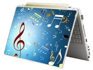 "Bundle Monster Laptop Notebook Skin Sticker Cover Art Decal   12"" 14"" 15""   Fit HP Dell Asus Compaq   Music Notes Computers & Accessories"