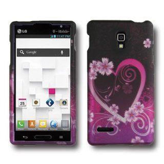 CoverON Hard Snap On Cover Case with PINK PURPLE LOVE Design for LG P769 OPTIMUS L9 T MOBILE With PRY  Triangle Case Removal Tool [WCC827] Cell Phones & Accessories