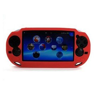 Case Star � Hard Case/Cover plus 1 PCS of LCD Screen Protector for Playstation PS VITA (PCH 1000) (Silicone Red+ Clear LCD Screen Protector) Playstation Vita Video Games