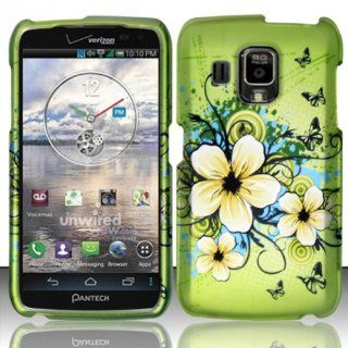 Pantech Perception R930L Case (Verizon) Glamorous Flower Design Hard Cover Protector with Free Car Charger + Gift Box By Tech Accessories Cell Phones & Accessories