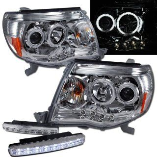 Toyota Tacoma Halo Projector Headlights + 8 Led Fog Bumper Light Automotive