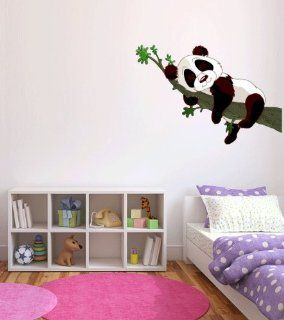 Panda Baby Sleeping on Branch Wall Decal Sticker Graphic By LKS Trading Post  Nursery Wall Stickers  Baby