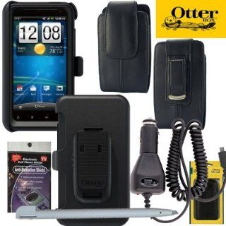 Otterbox Defender Case for AT&T HTC Vivid with Heavy Duty Car Charger, Vertical Leather Case that fits your phone with the Otterbox on and Stylus to keep fingerprints off your case. Also comes with Anti Radiation Shield. Cell Phones & Accessories