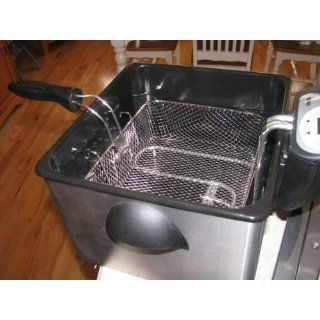 Aroma ADF 212 Smart Fry XL Digital Dual Basket Deep Fryer Kitchen & Dining