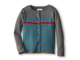 Appaman Kids Knit Stripe Super Soft Boardwalk Cardigan Girls Sweater (Gray)