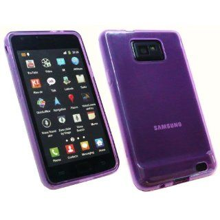 Samsung Galaxy SII S2 i9100 Canadian, International And AT&T SGH i777 Versions Super Hydro TPU Gel Case Skin Frosted Pattern Purple By Kit Me Out Kit Me Out International Limited Cell Phones & Accessories
