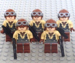 Lego Star Wars Mini Figure   Naboo Fighter Pilot 5 pack Army Builder (Approximately 45mm / 1.8 Inches Tall) Toys & Games