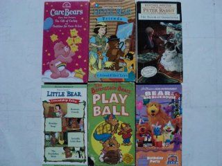 Kids and Children 6 Pack VHS Movies Care Bears, Gift of Caring & Bedtime, Little Bear Friends (4 Friend Filled Tales), Beatrix Potter in the World of Peter Rabbit Tailor Gloucester, Little Bear Between Friends   Birthday Soup   Invisible Little Bear