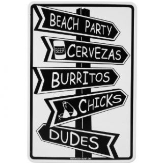Seaweed Surf Co. Beach Party Sign White One Size Clothing