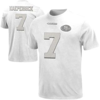 Colin Kaepernick San Francisco 49ers White on White Name and Number T Shirt   White