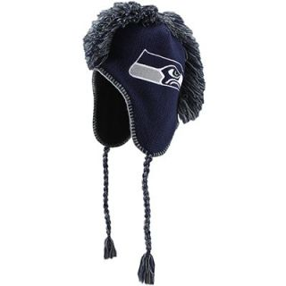 47 Brand Seattle Seahawks Mohican Knit Hat   Navy Blue