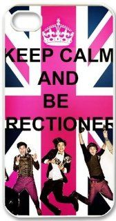 Apple iPhone 5 Love One Direction Boy Band 1D Keep Calm Design WHITE Sides Slim HARD Case Skin Cover Protector Accessory Vintage Retro Unique design Comes in retail packing Cell Phones & Accessories