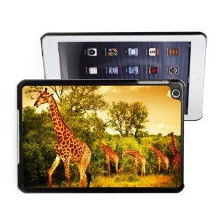 Apple iPad Mini Black Hard Back Case Cover LB39 Color Giraffe Family in Safari Computers & Accessories