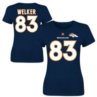 Wes Welker Denver Broncos Ladies Fair Catch T Shirt   Navy Blue