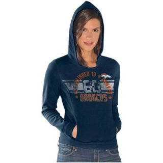 Denver Broncos Ladies Teamwork Hoodie   Navy Blue