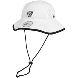 New Era Oakland Raiders Training Bucket Hat   White
