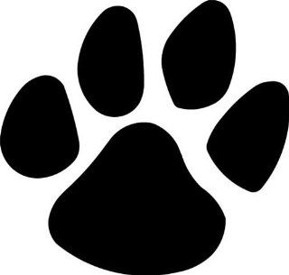 "PANTHER PAW PRINT 5"" BLACK Vinyl Decal Window Sticker for Laptop, Ipad, Window, Wall, Car, Truck, Motorcycle   Wall Decor Stickers"
