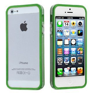 Apple iPhone 5 Hard Plastic Snap on Cover Apple Green/Transparent Clear MyBumper AT&T, Cricket, Sprint, Verizon Plus A Free LCD Screen Protector (does NOT fit Apple iPhone or iPhone 3G/3GS or iPhone 4/4S) Cell Phones & Accessories