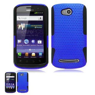 Coolpad Quattro 4G Blue And Black Hybrid Case Cell Phones & Accessories